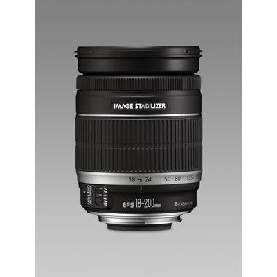 Canon camera lens: EF-S 18-200mm f/3.5-5.6 IS - Zwart