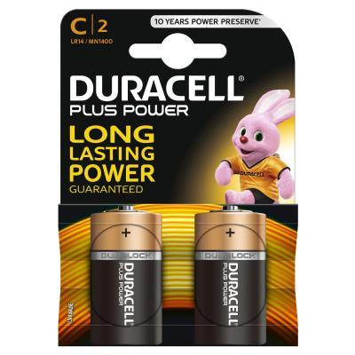 Duracell batterij: C Plus Power batterijen (2 stuks) - Zwart, Oranje