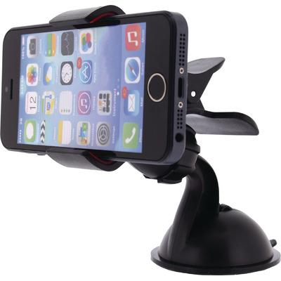 Mobilize houder: Universal Smartphone Mount In-Car Window and Dashboard, Black - Zwart