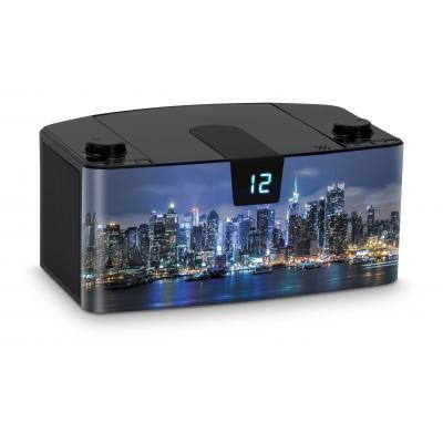 Bigben interactive CD-radio: Draagbare radio en CD speler met USB - New York City - Zwart, Blauw
