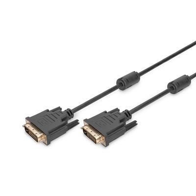 Digitus DVI connection cable, DVI(24 1) M/M, 0.5m, DVI-D Dual Link, bl DVI kabel  - Zwart