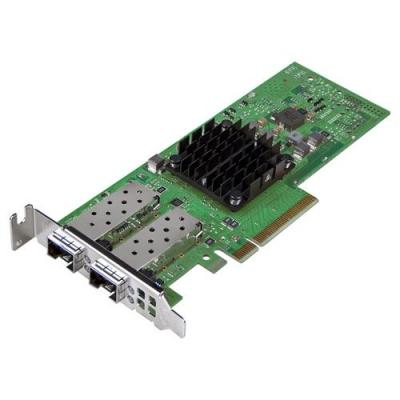 Dell netwerkkaart: Broadcom 57404 25G SFP Dual Port PCIe Adapter, Low Profile, Customer Install - Groen
