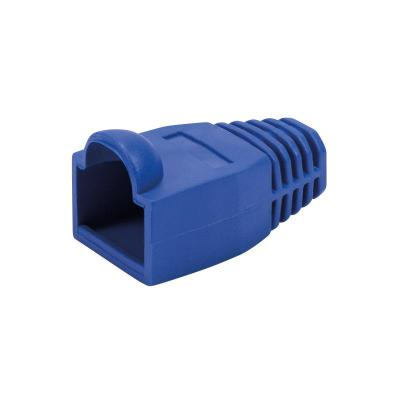 Logilink kabelbeschermer: Strain relief boot 6.5 mm for RJ45 plugs, 50 pcs, blue - Blauw