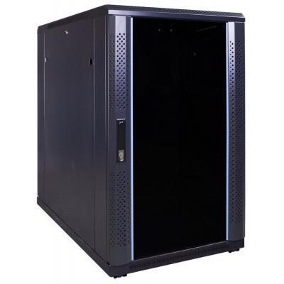 DS-IT 18U serverkast met glazen deur 600x1000x1000mm (BxDxH) Rack