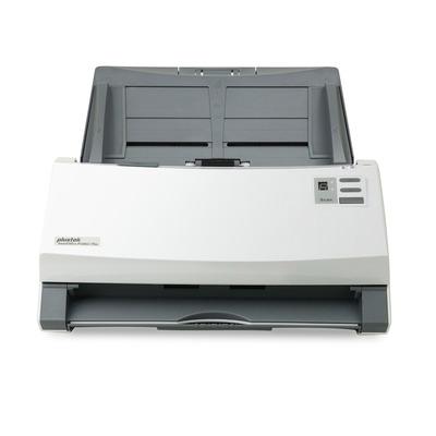 Plustek SmartOffice PS406U Plus Scanner - Grijs, Wit