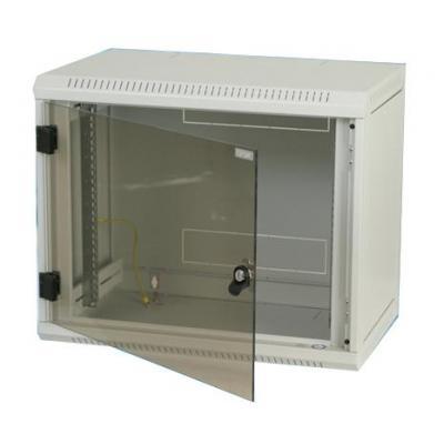 """Triton rack: Delta B4S 19"""" Rack Wall-mount 9U/400 glass door - Grijs"""