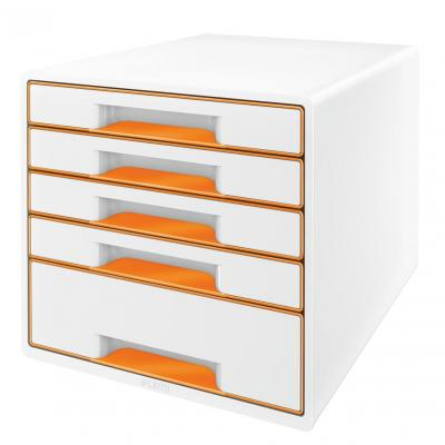 Leitz bureaulade: WOW Ladenblok - Oranje, Wit