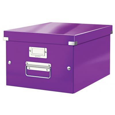 Leitz archiefdoos: Click & Store middelgrote doos - Paars