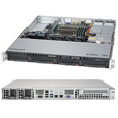 Supermicro 5019S-MR Server barebone - Zwart