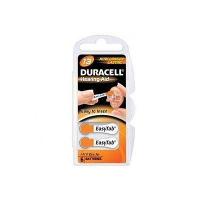 Duracell DA13, 1.4V, Zinc-Air, 13 batterij - Oranje