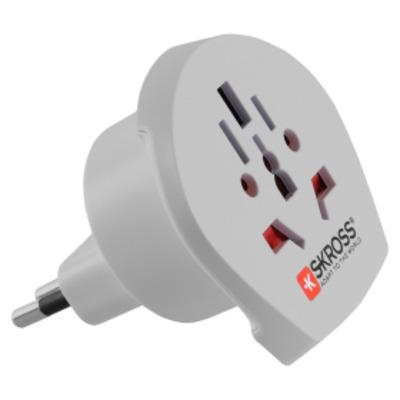 Skross Landadapter wereld naar Italië Stekker-adapter - Wit