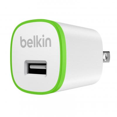 Belkin oplader: Home charger with USB port, 5V, 1A - Groen, Wit