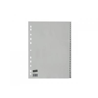 Staples schutkaart: Tabblad SPLS A4 11r 1-31 pp grijs/set 31