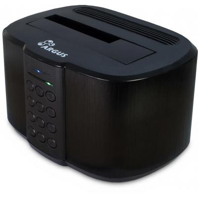 "Inter-tech HDD/SSD docking station: 1 x 2.5""/3.5"", 16TB max, 5 Gbps, USB 3.0 - Zwart"