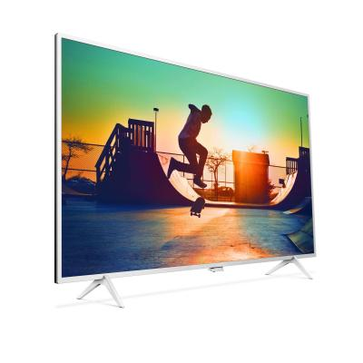 Philips led-tv: 6000 series Ultraslanke 4K-TV powered by Android TV 49PUS6432/12 - Wit