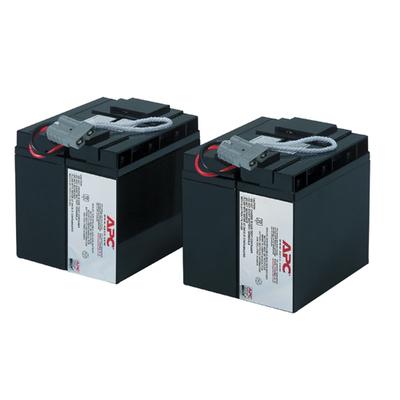 APC Batterij Vervangings Cartridge RBC55 UPS batterij - Zwart