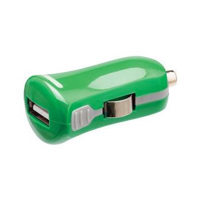 Valueline USB car charger, USB A female - 12 V car connector, green Oplader - Groen