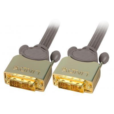 Lindy DVI kabel : 15m, DVI-D - DVI-D - Antraciet
