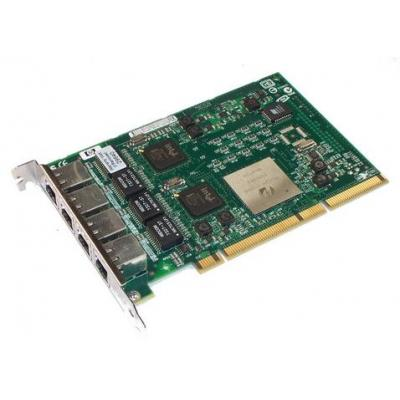 Hp netwerkkaart: PCI-X, 4-Port Gigabit Ethernet - Groen