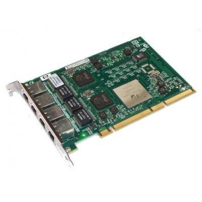 HP PCI-X, 4-Port Gigabit Ethernet Netwerkkaart - Groen