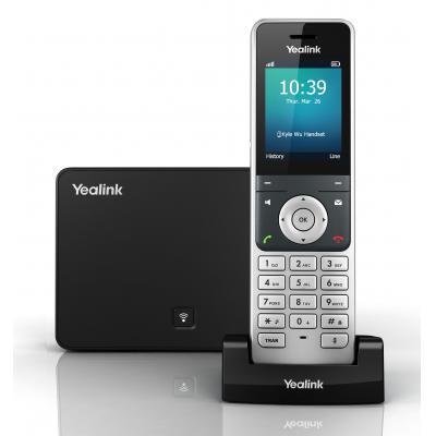 Yealink ip telefoon: 2 4'' LCD, DECT, RJ45, 3.5 mm, POE, CAT-iq2.0 - Zwart, Zilver