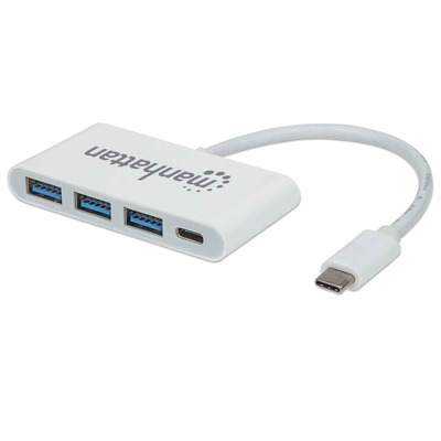 Manhattan USB-C/Dock/Converter, USB-C to USB-C (with Power Delivery) and 3x USB Type-A, 5Gbps (USB 3.2 Gen 1), .....