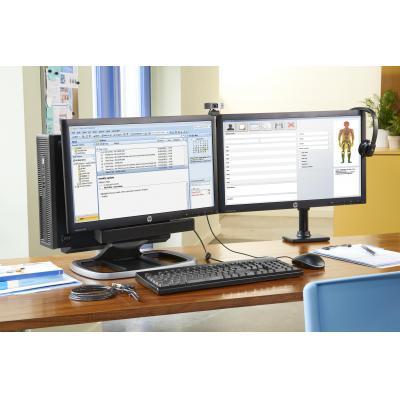 HP enkele Monitorarm - Zwart - Demo model