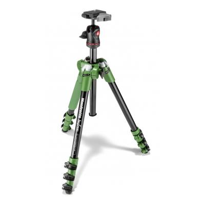 Manfrotto tripod: Befree Aluminum Green Tripod with Ball Head - Zwart, Groen