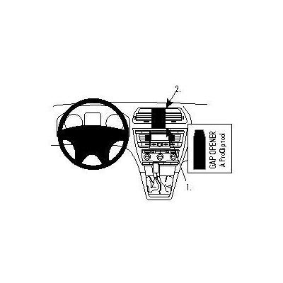Brodit montagekit: Mounting bracket - Zwart