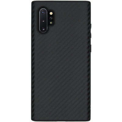 SolidSuit Backcover Galaxy Note 10 Plus - Carbon Fiber Black - Zwart / Black Mobile phone case