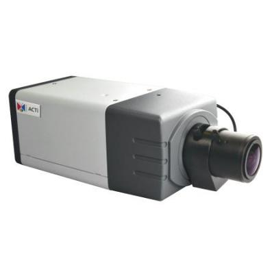 Acti beveiligingscamera: 3MP Box with D/N, Superior WDR, Vari-focal lens - Grafiet, Wit