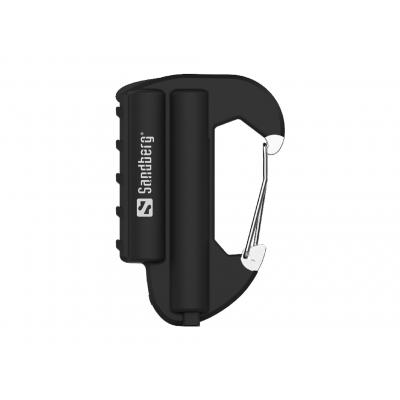 Sandberg powerbank: Carabiner Powerbank IP67 6000 - Zwart