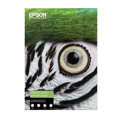 Epson creatief papier: Fine Art Cotton Smooth Bright A3+ 25 Sheets