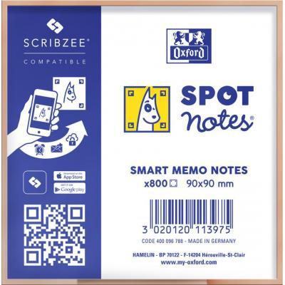 Oxford 9x9cm - Plain - 800 Sheets - SCRIBZEE Compatible - White Etiket