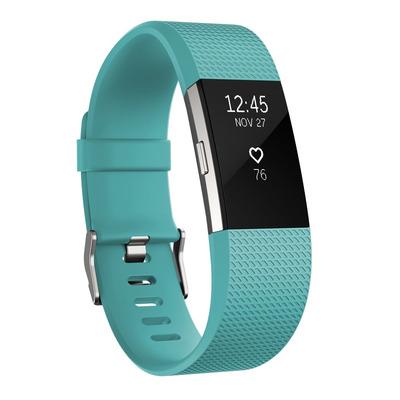 Fitbit Charge 2 Wearable - Zwart, Blauwgroen
