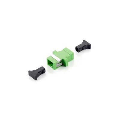 Equip fiber optic adapter: SC APC Coupler, Single-mode simplex - Groen