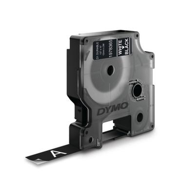 DYMO D1 -Durable Labels - White on Black - 12mm x 3m Labelprinter tape - Zwart