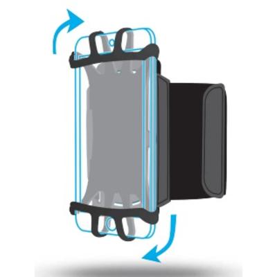 Mobilis ARM BAND 4-6IN . Mobile phone case - Zwart
