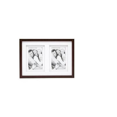 Deknudt fotolijst: S65KQ2 2 x 13x18 - wood, Brown - Bruin