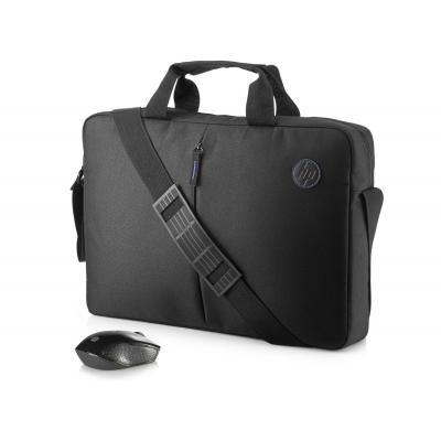 Hp laptoptas: Value koffertje en draadloze muis, kit - Zwart
