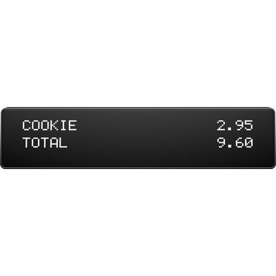 HP ElitePOS Top Mount 2x20 CFD Paal display - Zwart