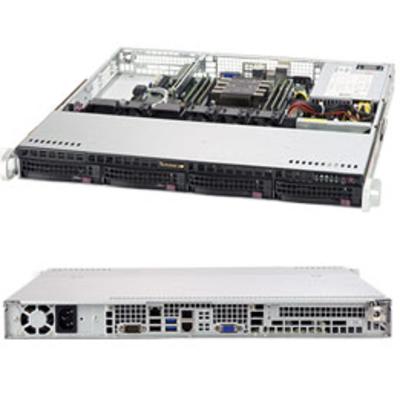 Supermicro SuperServer 5019P-M Server barebone - Zwart