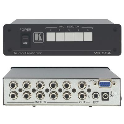 Kramer Electronics Kramer VS-55A Switcher Audio switch  - Zwart