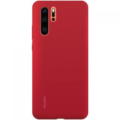 Huawei P30 Pro Silicone Case Red telefoon cover