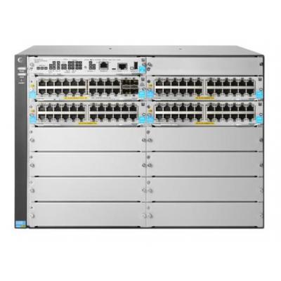 Hewlett Packard Enterprise 5412R 92GT PoE+ & 4-port SFP+ (No PSU) v3 zl2 Switch - Grijs