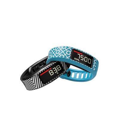 Garmin : 2 x Bands for vivofit 2, 26 g, 21 x 10 mm, 120-175mm - Zwart, Blauw, Wit