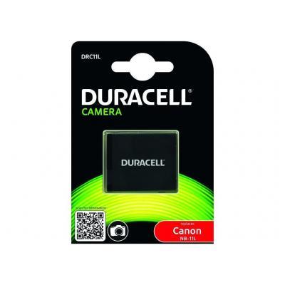 Duracell batterij: Digital Camera Battery 600mAh 3.7V, Canon NB-11L - Zwart