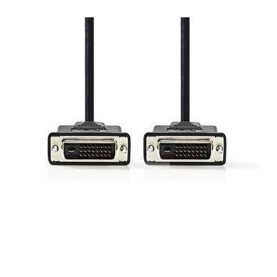 Nedis DVI Cable | DVI-D 24+1-Pin Male - DVI-D 24+1-Pin Male, 2.0 m, Black