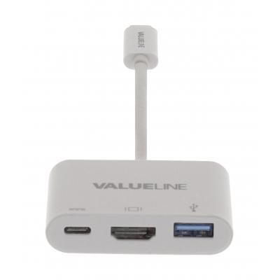 Valueline : USB 3.1, USB-C, USB A, HDMI - Wit