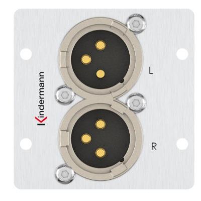 Kindermann 7444000578 Wandcontactdoos - Aluminium